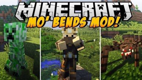 Мод на анимацию персонажа - Mo Bends 1.12.2, 1.11.2, 1.8.9, 1.7.10