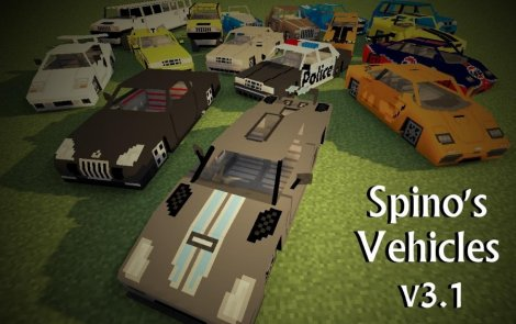 Мод на машины - Spino's Vehicles 1.8.9, 1.7.10