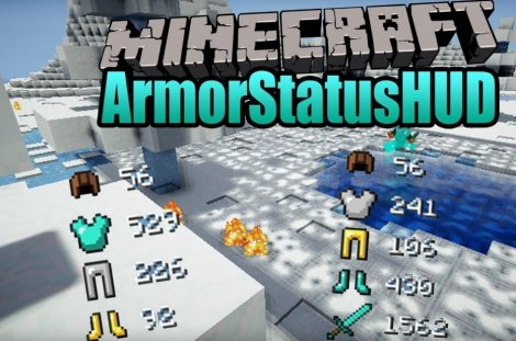 Мод на статус брони - ArmorStatusHUD 1.8.9, 1.7.10