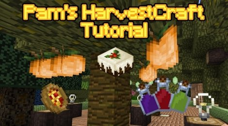 Мод на еду - HarvestCraft 1.12.2, 1.11.2, 1.8.9, 1.7.10