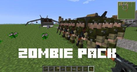 Мод на зомби апокалипсис - Zombie Pack 1.12.2, 1.8.9, 1.7.10