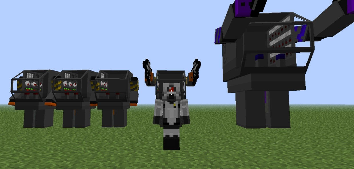 моды на майнкрафт на 1.7.2 на огромных роботов которые будут враждебны и мод на оборотней #4