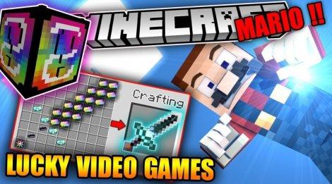 Мод на лаки блок видео геймс - Lucky Block VideoGames 1.8.9, 1.8, 1.7.10